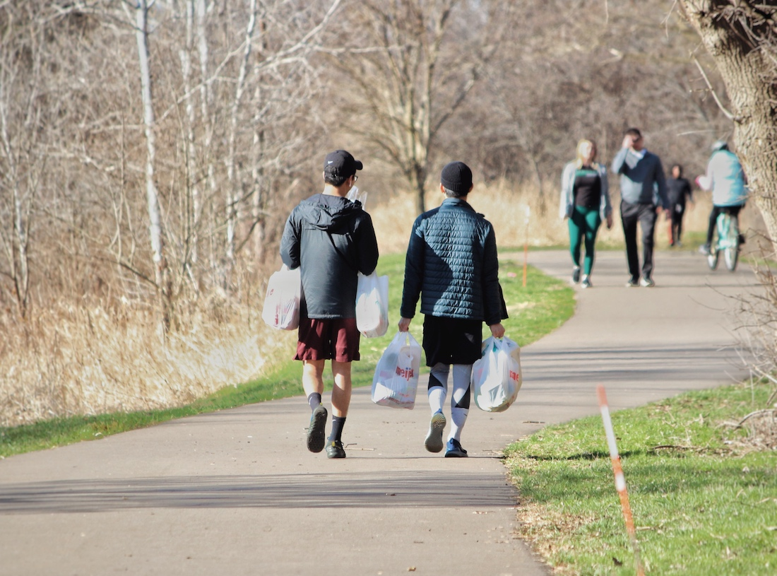 Weekend walkers on the Northern Tier Trail